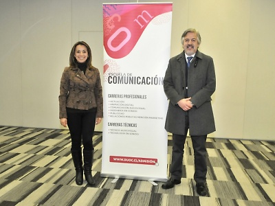 El desarrollo de contenidos y la construcción de conversaciones a largo plazo son parte de la esencia de la escuela de Comunicación: Ejes de gestión en 2019. Jaime Delannoy Arriagada y Clara Betancourt Quinayas.