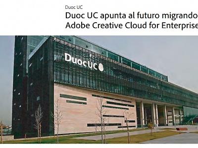 """Novedades en Tecnología Educativa """"Duoc UC apunta al futuro migrando a Adobe Creative Cloud for Enterprise"""""""